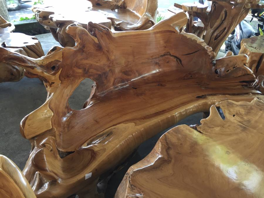 Exceptional Handcrafted Teak Root Furniture Los Angeles California