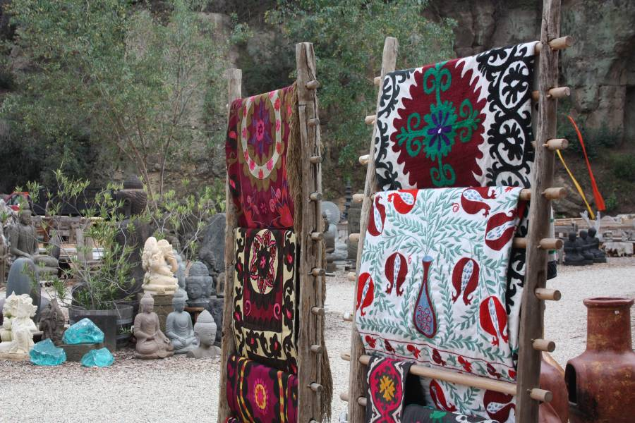 Rare Antique Suzani Hand Embroidered Fabrics From