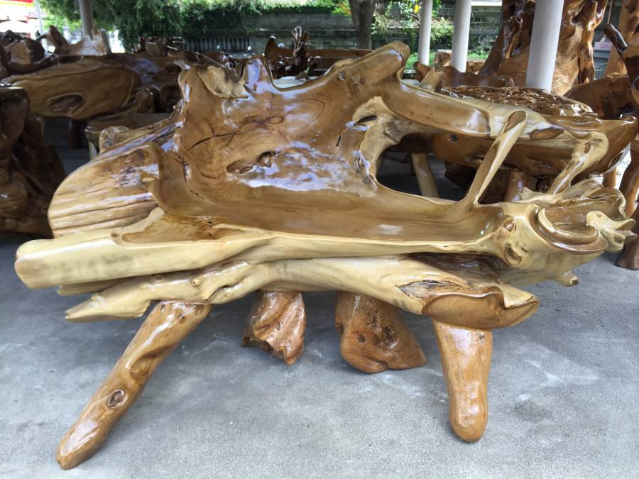 Exceptional Handcrafted Teak Root Furniture, Los Angeles, California